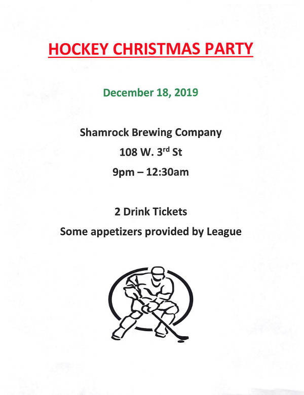 Hockey Christmas Party Flyer